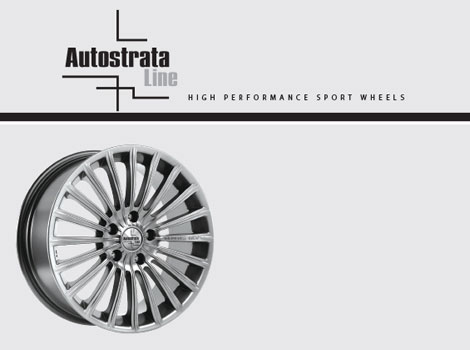 AUTOSTRATA LINEThe innovative range of wheels with the signing of AUTOSTRATA WHEELS, lists a rich collection of alloy wheels, excellent design and high quality construction to drive requirements.The models cover every type of vehicle passenger, SUV and 4x4 and light truck / Van, while oloi codes are labeled Made in Europe.